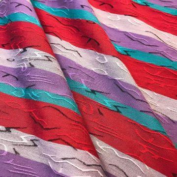 ф2536 Яркие вертикальные полоски с березовой фактурой