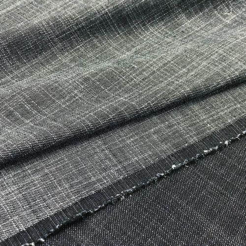 ф5754 Gaultier. Серая ткань с белым пунктиром (45% шерсть, 55% шелк).