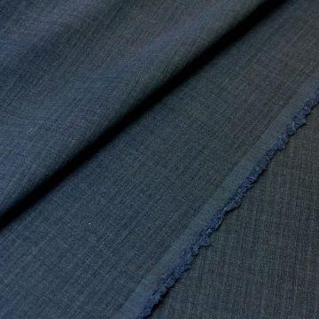 ф4911 Серо-синяя ткань с еле заметной полоской (100% шерсть).