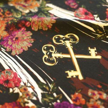 ф2911 Dolce&Gabbana Вертикальные ключевые гирлянды роз Купон