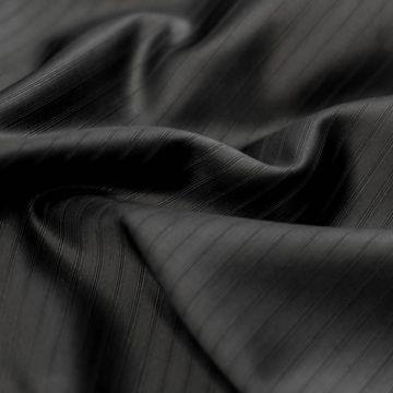 9234 Черная матовая ткань в атласную полоску (56% вискоза 44% шерсть).