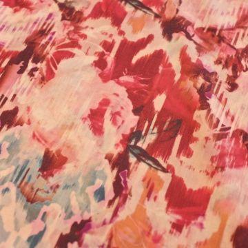 ф3438 Плательная ткань Цветы в зарницах