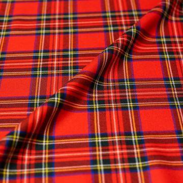 ф5009 Красная классическая шотландка (100% шерсть). Италия.