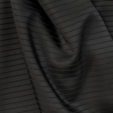 9238 Черная ткань в выпуклую полоску (100% ацетат).