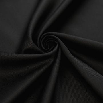 ф5527 Guabello. Черная ткань габардинового переплетения (100% шерсть).