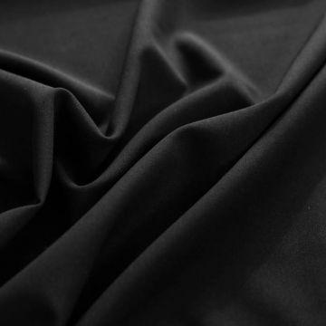 ф5774 Guabello. Черная костюмная ткань стрейч (97% шерсть 3%эластан)