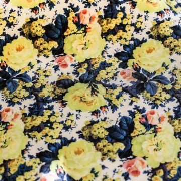 ф5146 Победоносное шествие Желтой розы. Репс. (100% шелк).