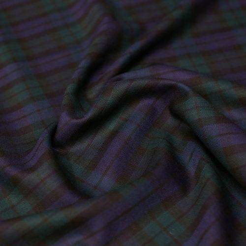 ф5008 Сине-зеленая шотландка (100% шерсть).