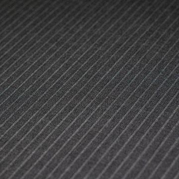 ф4851 Темно-серая костюмная ткань в полоску (100% шерсть ). Италия.