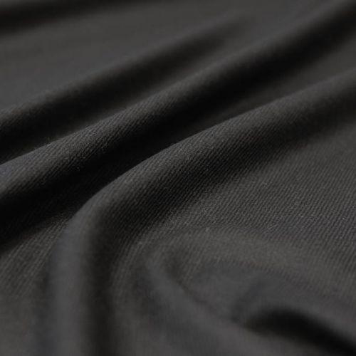 ф5529 Etro. Маслянистая черная диагональ (55%кашемир 45%шерсть).