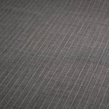 ф4852 Guabello. Светло-серая костюмная ткань в белую полоску (100% шерсть ). Италия.