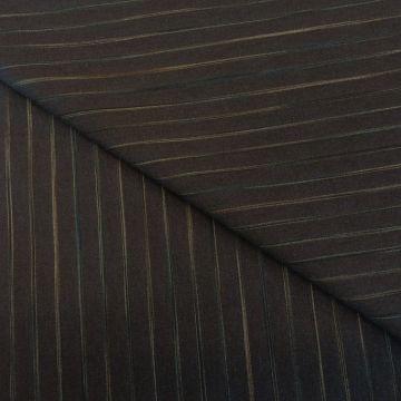 5893 Темно-сине-серая ткань стрейч в золотистую полоску