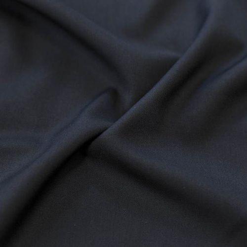 ф5336 Cerruti. Темно-синяя костюмная ткань стрейч (96%шерсть 4%эластан).