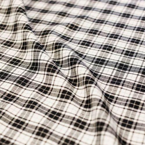 7561 Черно-белая мелкая клетка (100% шерсть).