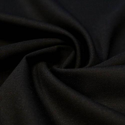 ф5021 Черная ткань Eхclusive Creation Double Face (97% шерсть 3% эластан).