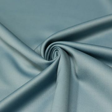 ф4976 Мистически-голубая ткань Eхclusive Creation Double Face (97% шерсть 3% эластан). Италия.