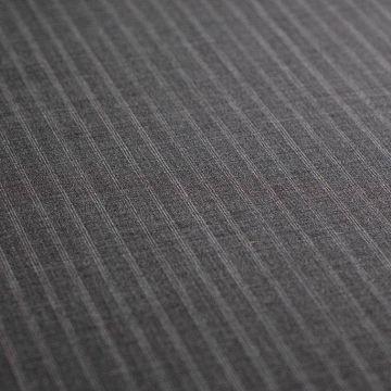 ф4854 Серая костюмная ткань в тройную полоску (98% шерсть 2% эластан ). Италия.