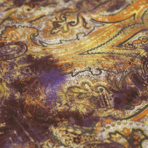 ф3022 Оранжево-лиловые фрески пейсли