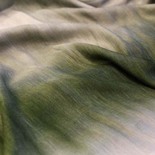 ф5107 Скошенная трава. Деграде. (60% виск 10% хлопок 30% лен).