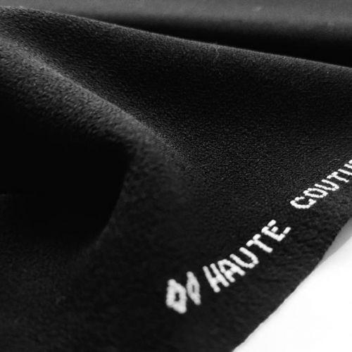 ф4999 Черный дабл креп (100% шерсть).