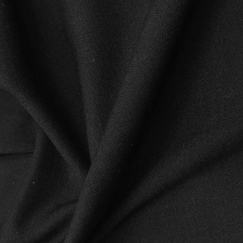 ф5778 Loro Piana. Черный креп стрейч (79%шерсть 14%шелк 7%эластан)