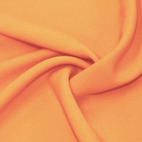 4555 Плотный оранжевый жоржет