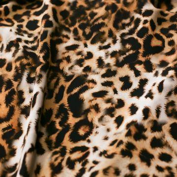 ф5565 Крепдешин Леопард элитной породы (100% шелк)