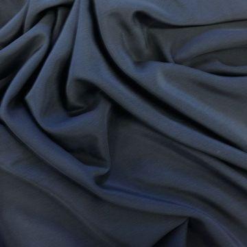 ф3123 Темно-синий крепдешин