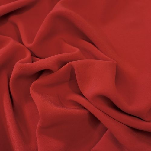 ф4548 Красный крепдешин