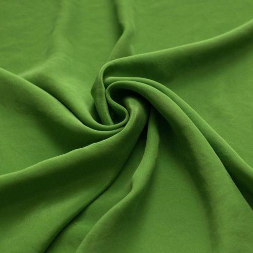 4460 Солнечно-зеленый крепдешин (100% шелк)