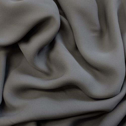 ф4543 Тонкий серый крепдешин