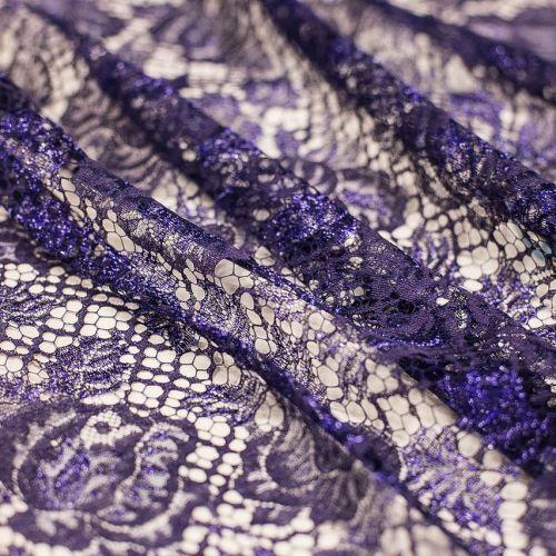 5792 Solstiss. Фиолетовое бликующее кружево. Франция
