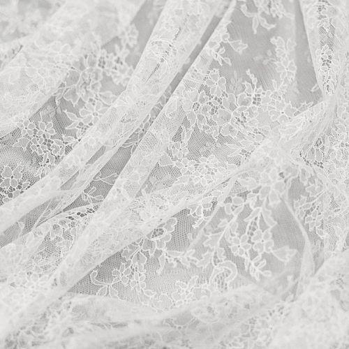 ф3036 Sophie Halette. Белое шантильи с гирляндами и гребешками по бордюру
