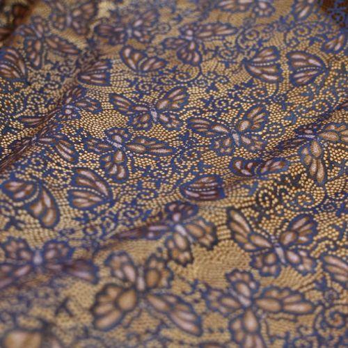 ф4060 Blugirl Синие бабочки на коричневой сетке