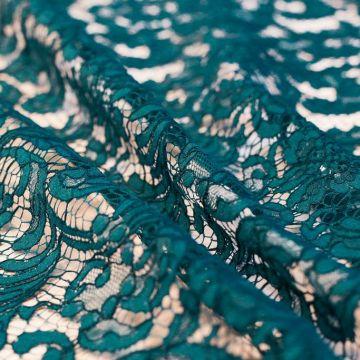 """ф5422 Riechers Marescot. """"Океаническое"""" кордовое кружево с фазаньими перьями (61%хлоп 32%виск 7%п/а)."""