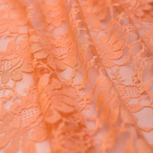 3279 Коралловое кружево со сплющенными цветами (76% хлопок 24% п/эст)