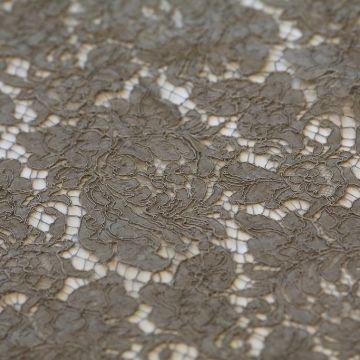 ф2341 Никелевое кружево с фазаньими перьями Dark nickel