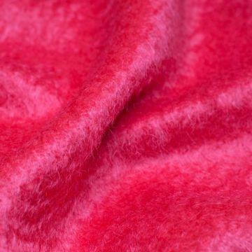 ф4953 Ткань Земляничный мусс (70% мохер 30% шерсть). Италия.