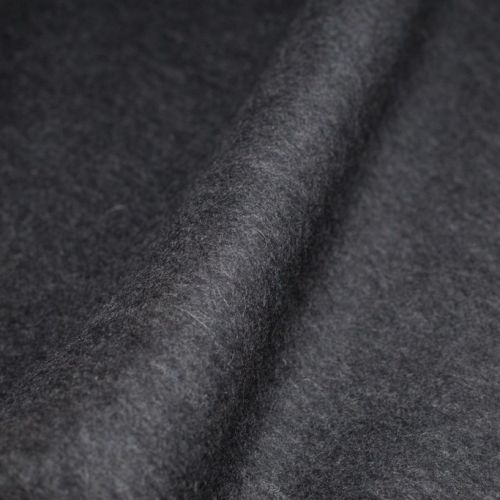 ф4957 Теплейшая двойная пальтовая ткань серая (100% baby alpaca). Италия.