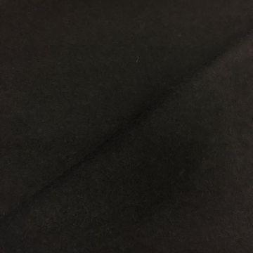 ф3694 Черная дабл-пальтовая ткань