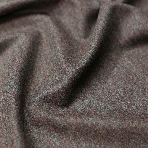 ф5708 Dior. Красно-коричневая ткань меланж (37%шерсть 63%кашемир)