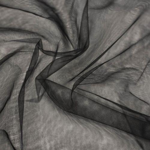 ф4673 Мягкая черная сетка (100% п/амид).