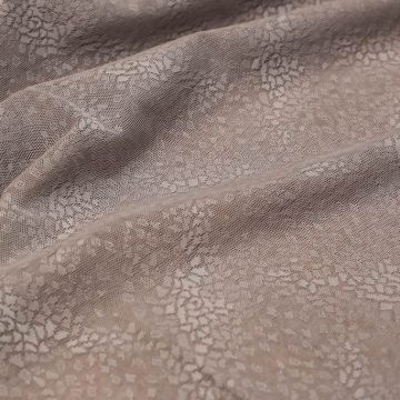и0037 Сетка цв. какао с мелкой геометрией (100% п/эст).