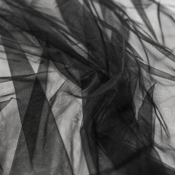 ф4670 Мягкая черная сетка (100% п/амид).