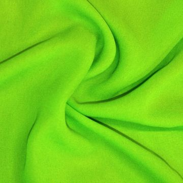 ф0923 Зелёный жоржет Яблоко.