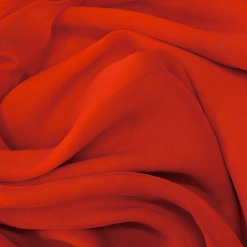 ф4628 Красный жатый шифон