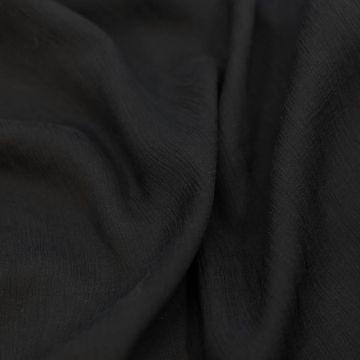 9873 Жатый черный шифон (100% шелк).