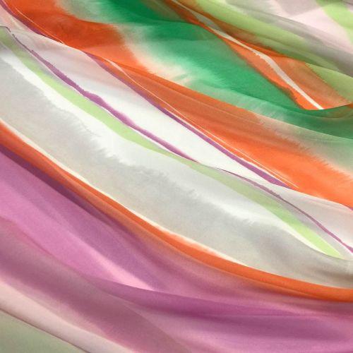 9943 Вертикальная радуга (100% шелк). Италия.
