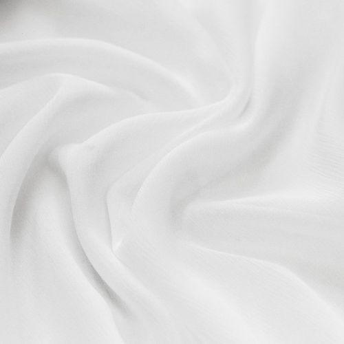 ф5319 Жатый белый шифон. (100% шелк).