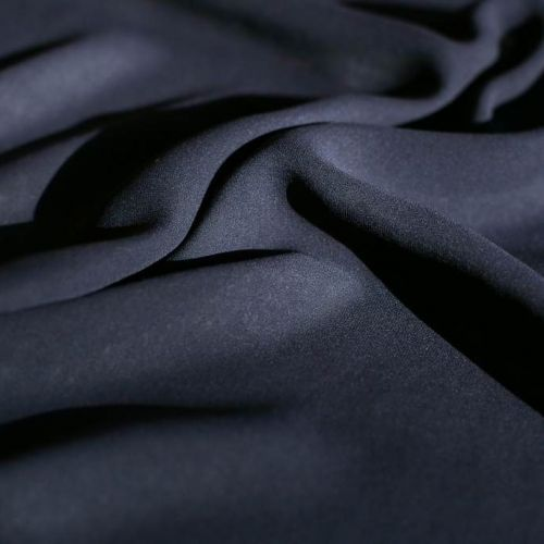 ф5593 Темно-синий шифон (100% шелк).